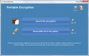 Enlarge Secure My Files Screenshot