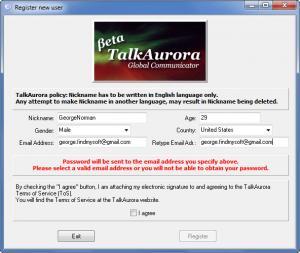 Enlarge TalkAurora Screenshot