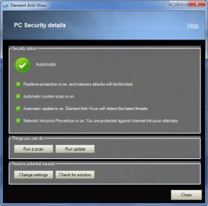 Enlarge Element Anti-Virus Screenshot