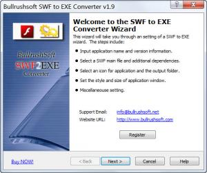 Enlarge Bullrushsoft SWF to EXE Converter Screenshot