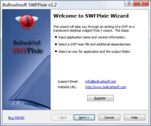Enlarge Bullrushsoft SWFPixie Screenshot