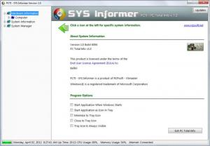 Enlarge SYS Informer Screenshot