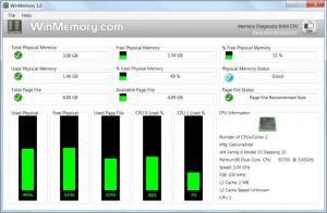 Enlarge WinMemory Screenshot