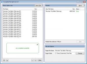 Enlarge Complete File Split Join Screenshot