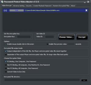Enlarge Password Protect Video Master Screenshot