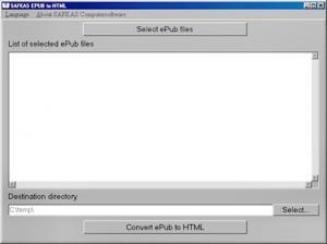 Enlarge ePub to HTML Converter Screenshot