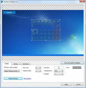 Enlarge Desktop Calendar Free Screenshot