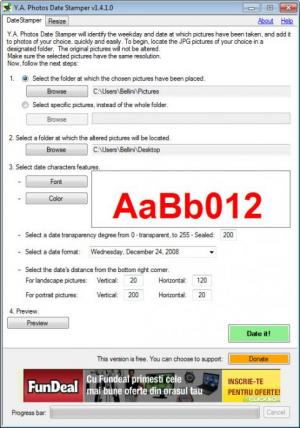 Enlarge Y.A. Photos Date Stamper Screenshot