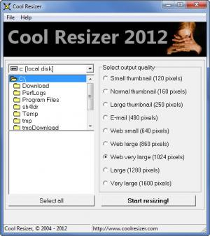 Enlarge Cool Image Resizer Screenshot
