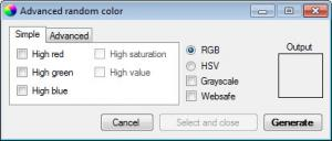Enlarge ColorUtility Screenshot
