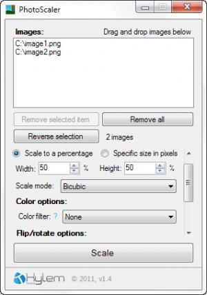 Enlarge PhotoScaler Screenshot