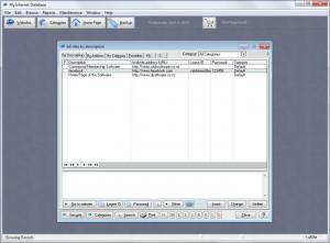 Enlarge My Internet Database Screenshot
