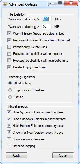Enlarge NoDupe Screenshot