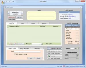 Enlarge Food Planner Screenshot