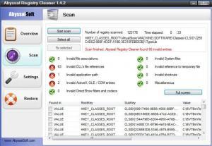 Enlarge Abyssal Registry Cleaner Screenshot
