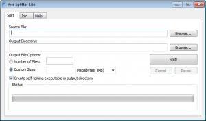 Enlarge File Splitter Lite Screenshot