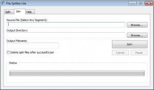 Enlarge File Splitter Lite Screenshot