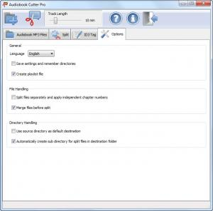 Enlarge Audiobook Cutter Pro Screenshot