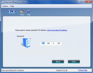 Enlarge Exina Syncwizard Screenshot