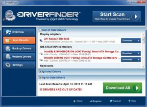 Enlarge DriverFinder Screenshot