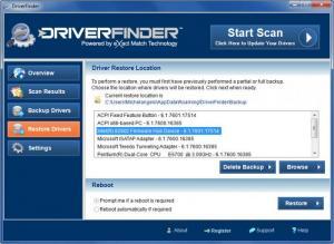 Enlarge DriverFinder Screenshot