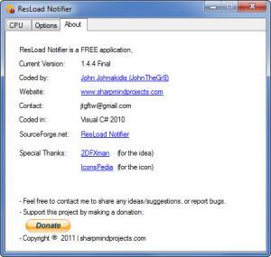 Enlarge ResLoad Notifier Screenshot