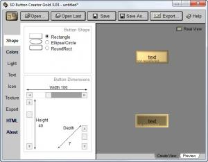 Enlarge 3D Button Creator Gold Screenshot
