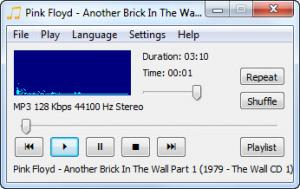 Enlarge CrystalWolf Audio Player Screenshot