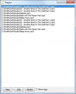 Enlarge CrystalWolf Audio Player Screenshot