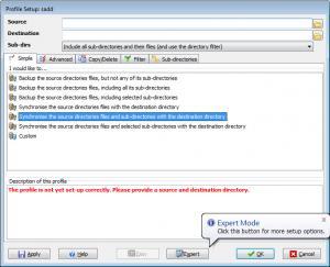 Enlarge SyncBack Free Screenshot