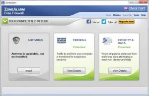 Enlarge ZoneAlarm Free Firewall Screenshot