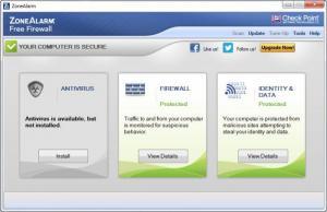 Enlarge ZoneAlarm Free Firewall Screenshot