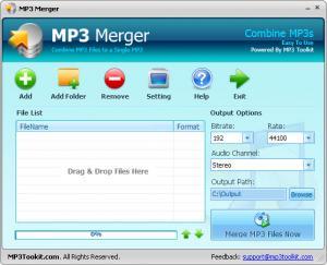 Enlarge MP3 Toolkit Screenshot