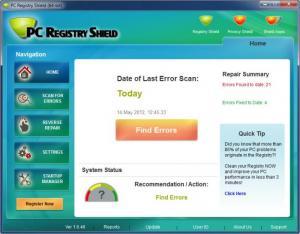 Enlarge PC Registry Shield Screenshot