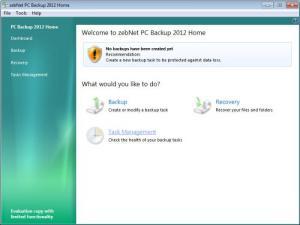 Enlarge zebNet PC Backup Pro Screenshot