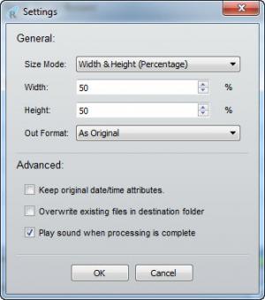 Enlarge Hibosoft Batch Image Resizer Screenshot
