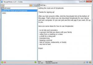 Enlarge ResophNotes Screenshot