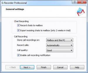 Enlarge G-Recorder Professional Screenshot