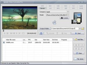 Enlarge Speedy Video Converter Pro Screenshot