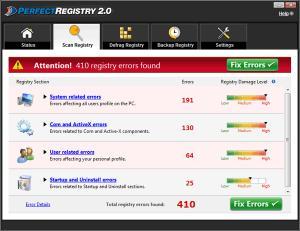 Enlarge PerfectRegistry Screenshot