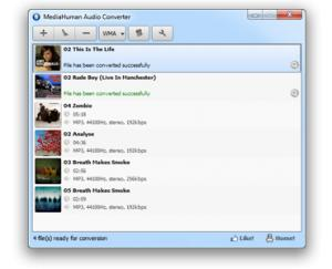 Enlarge MediaHuman Audio Converter Screenshot