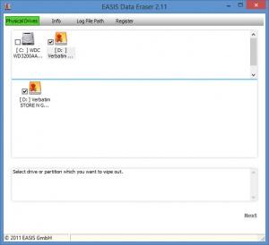 Enlarge EASIS Data Eraser Screenshot