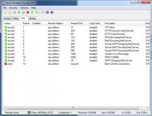 Enlarge SterJo Portable Firewall Pro Screenshot