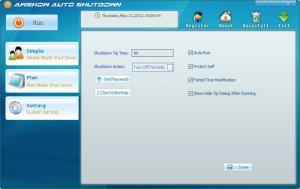 Enlarge Awshow Auto Shutdown Software Screenshot