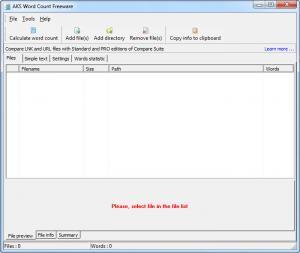 Enlarge AKS Word Count Screenshot