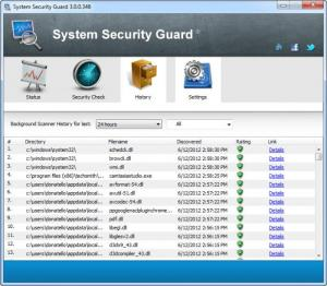 Enlarge System Security Guard Screenshot