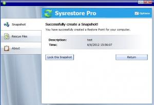 Enlarge Sysrestore Pro Screenshot