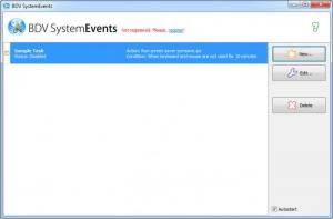 Enlarge BDV SystemEvents Screenshot