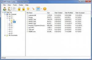Enlarge MTE Folder Locker Unlimited Edition Screenshot