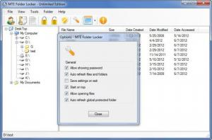 Enlarge MTE Folder Locker Unlimited Edition Screenshot